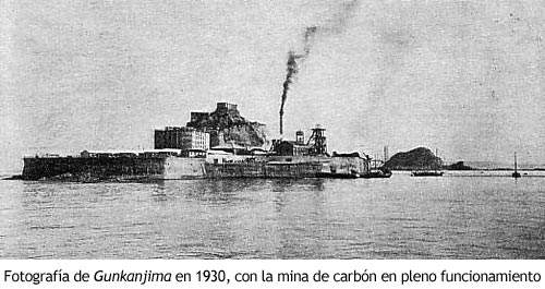 Gunkanjima - La isla en 1930