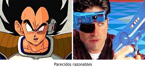 Comparativa entre el visor de SEGA Lock-On y el scouter de Dragon Ball
