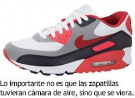 Las zapatillas deportivas con cámara de aire
