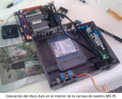 NES PC - Colocando el disco duro