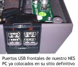 NES PC - Puertos USB frontales ya colocados