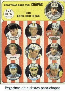 Ciclismo con chapas - Pegatinas