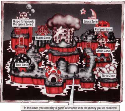 Super Mario Land 2 - Mapa