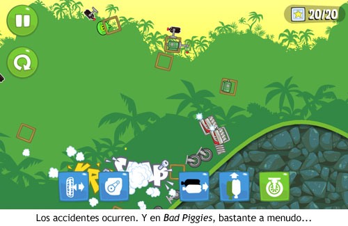 Bad Piggies - Accidente