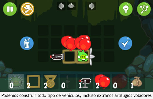 Bad Piggies - Vehiculo volador
