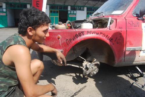 El mongol rally - Avería equipo Los borricos