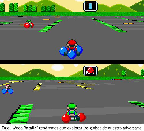 Super Mario Kart - Modo batalla
