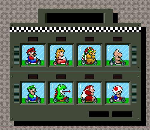 Super Mario Kart - Personajes