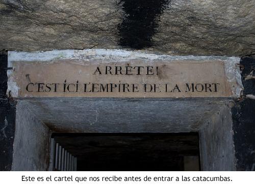Catacumbas - Cartel de entrada
