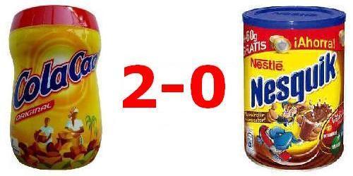 Cola Cao VS Nesquik - 2-0