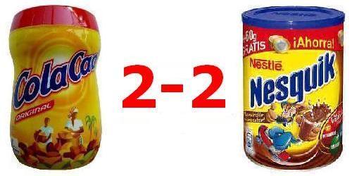 Cola Cao VS Nesquik - 2-2