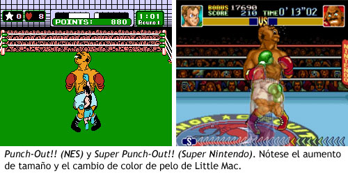 Punch Out - Comparativa de las versiones de NES y Super Nintendo