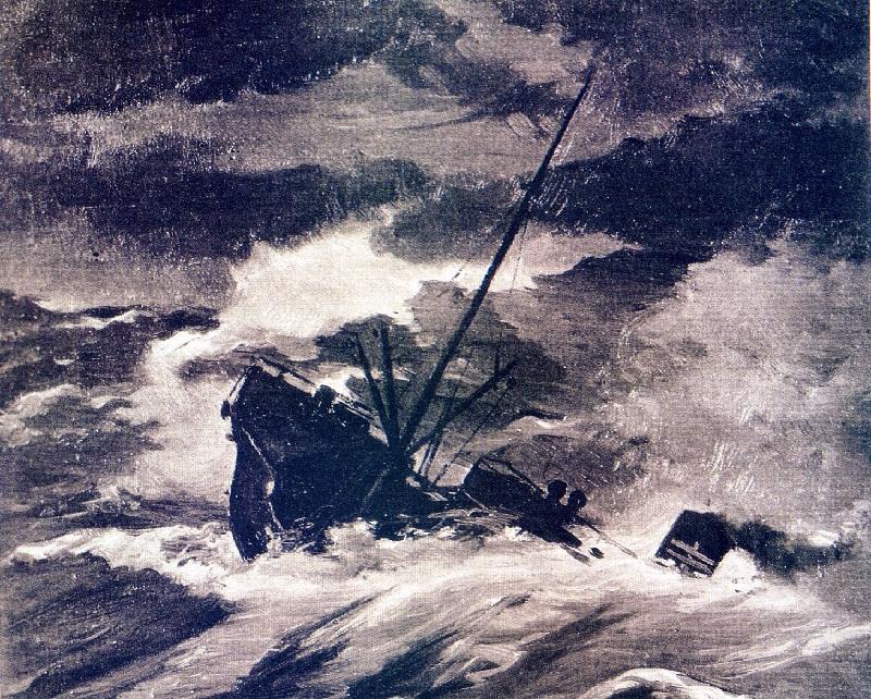 El naufragio del Valbanera - Hundimiento