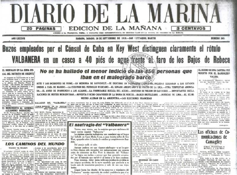 El naufragio del Valbanera - Periodico