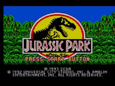 Jurassic Park Master System - Pantalla inicial del juego