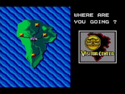Jurassic Park Master System - El mapa de la isla