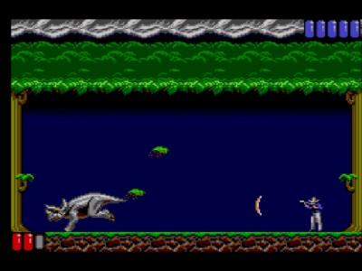 Jurassic Park Master System - Lucha contra el triceratops