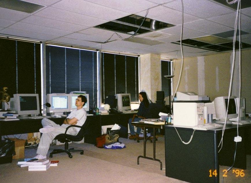 Obras en las oficinas de id Software