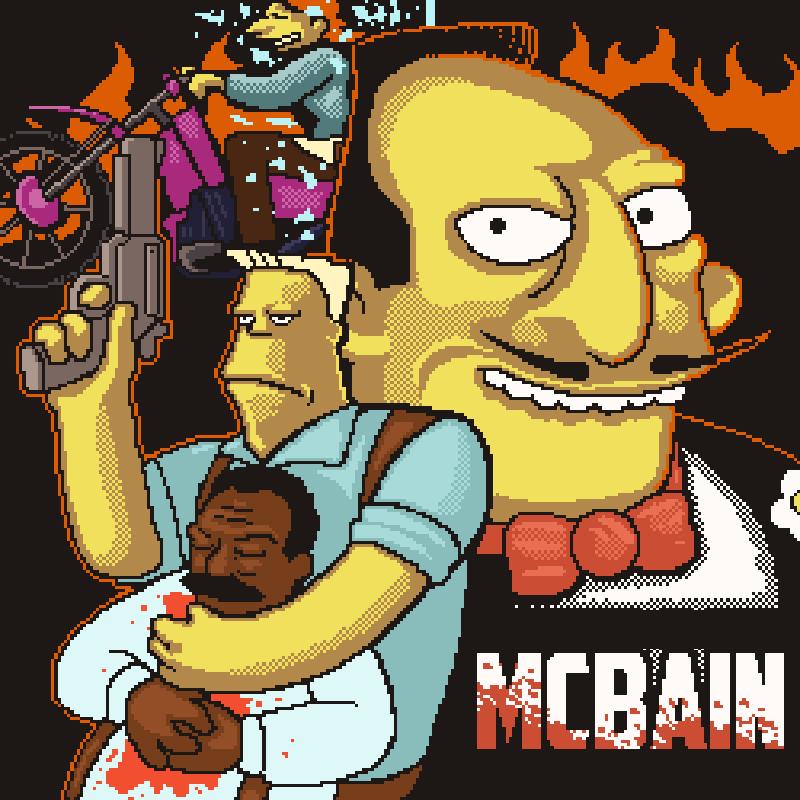 La pelicula de McBain - Cartel de cine pixel