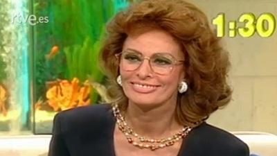 Sophia Loren, en su paso por el programa (Fuente: rtve.es)
