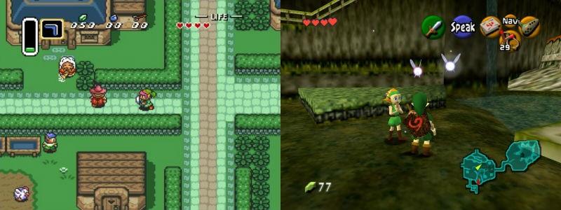 TLOZ.ALTTP - Zelda Snes vs Zelda N64