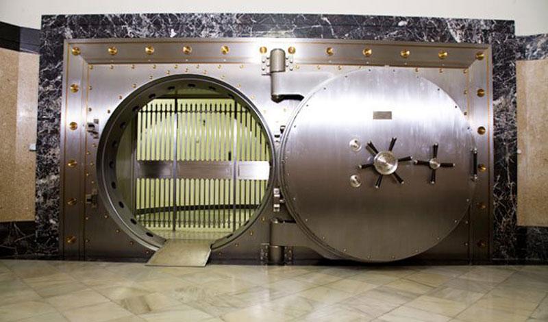 Madrid subterráneo - Puerta acorazada de la cámara del Banco de España