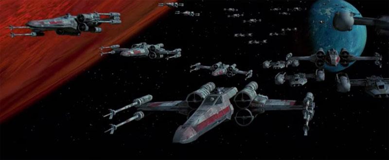 Cambios Star Wars - Cazas X-Wing preparados para el ataque