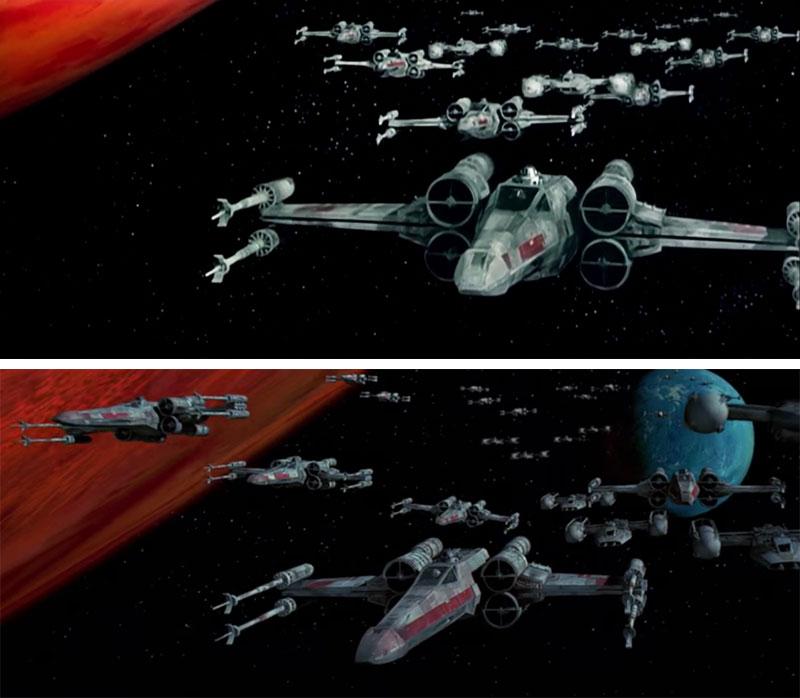 Cambios Star Wars - Batalla de Yavin