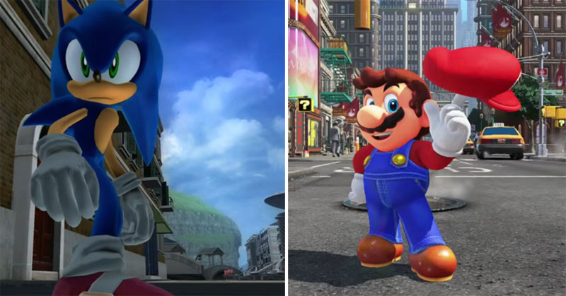 Sonic the Hedgehog y Super Mario Odyssey