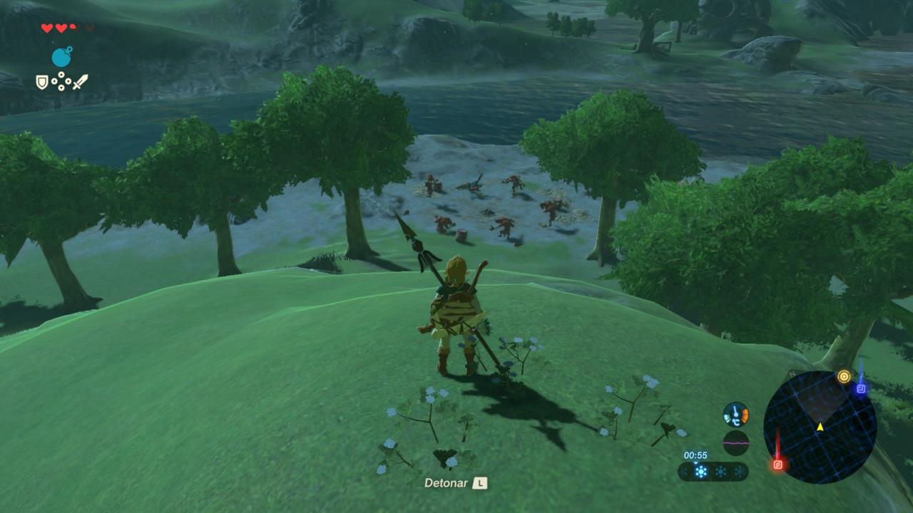Zelda Breath of the Wild - Campamento de Bokoblins