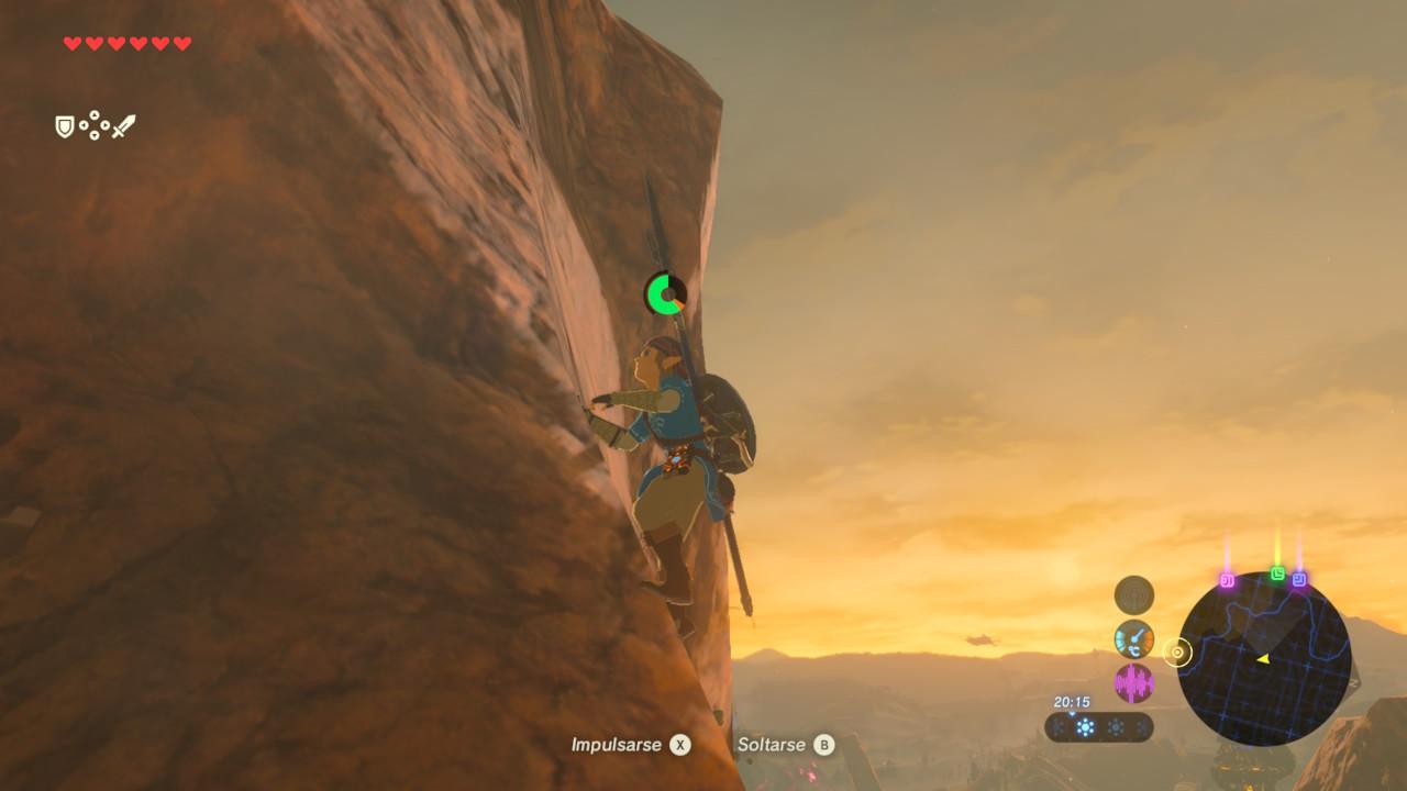 Zelda Breath of the Wild - Escalando