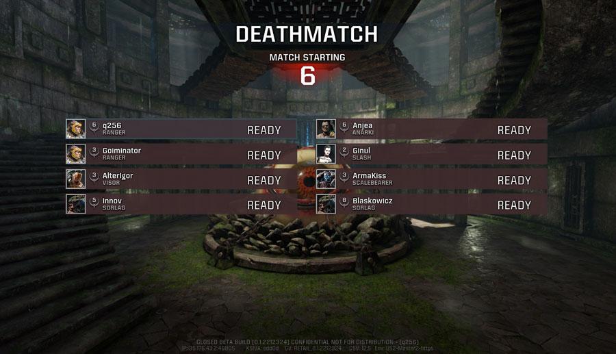 Quake Champions - Listos para empezar